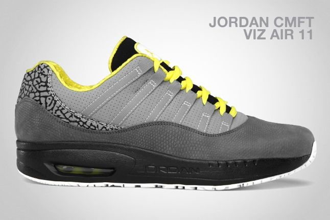 Jordan Cmft Viz Air 11 Ltr Grey Yellow 1