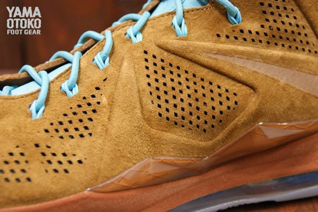 Nike Lebron X Brown Suede Laces 1
