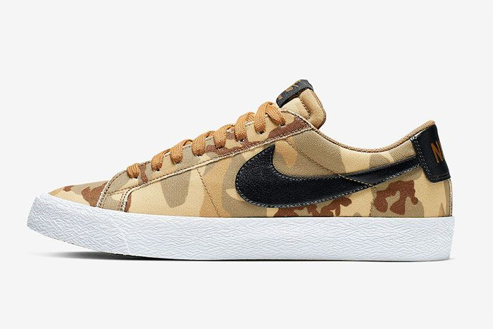Nike Sb Zoom Blazer Low Canvas Desert Camo Side2