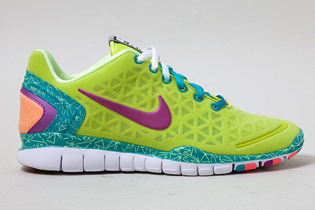 Nike Free Tr Fit 2 Green Purple Orange 2 1
