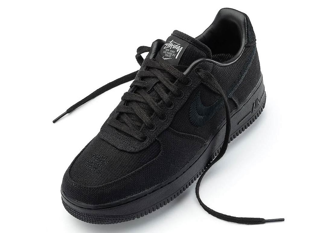 Stussy x Nike Air Force 1 Black CZ9084-001