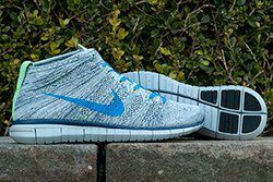 Nike Flyknit Chukka Blue Grey Green Thumb