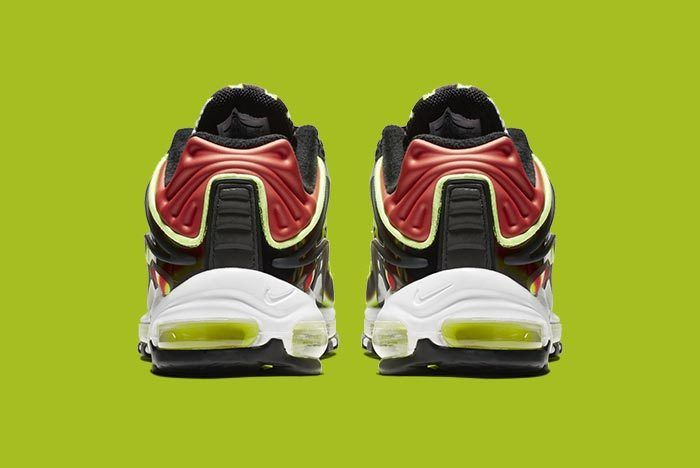 Nike Air Max Deluxe Blackvolt Habanero Red White 3