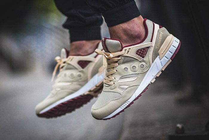 Saucony Grid Sd Cream Burgundy 1