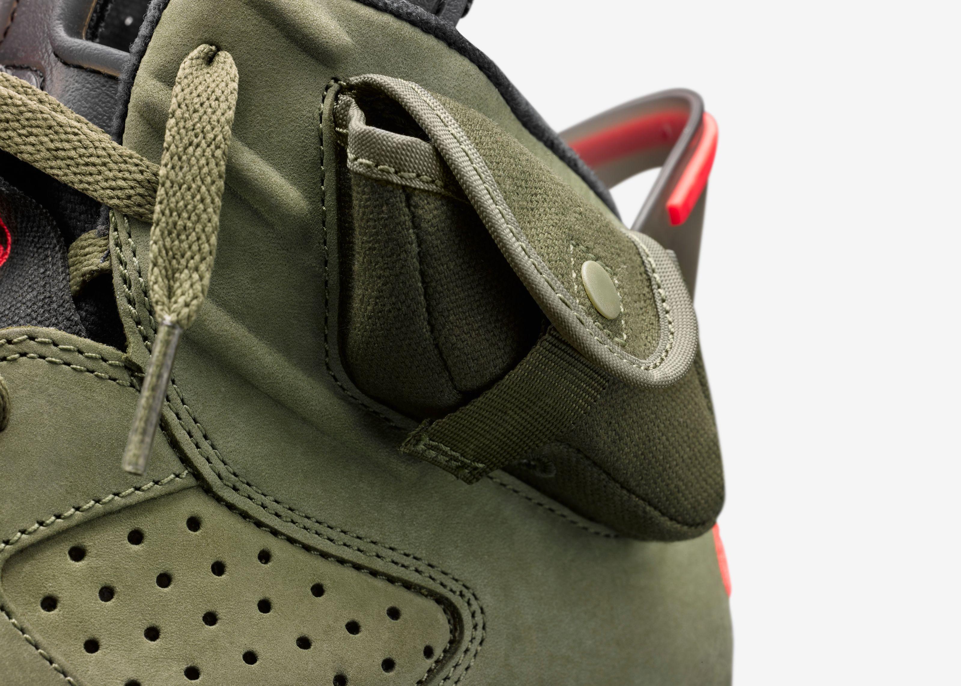 Travis Scott x Air Jordan 6 Olive