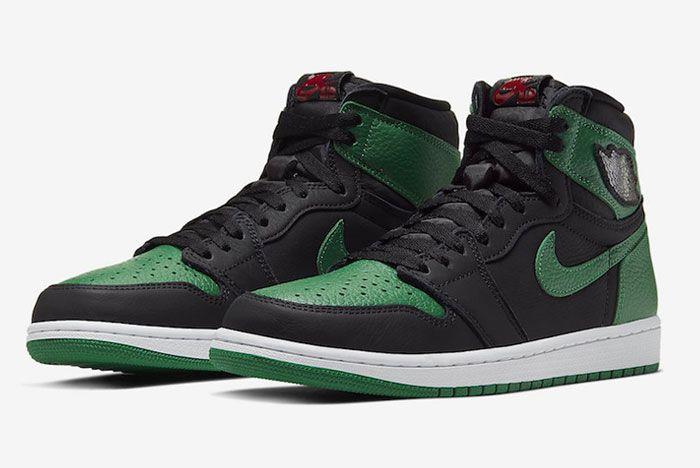 Air Jordan 1 High Pine Green Toe