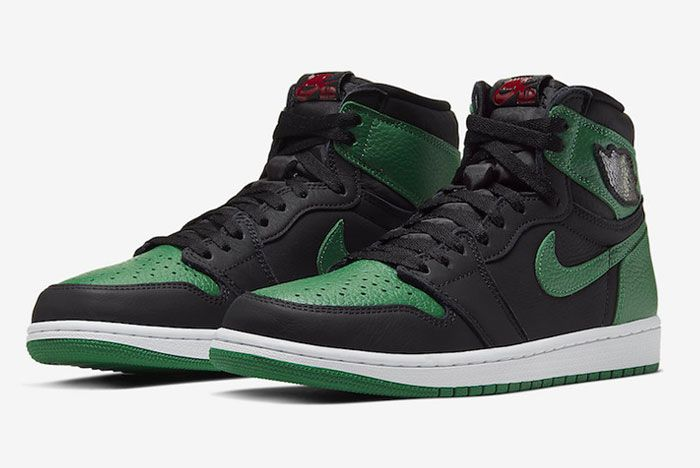 Air Jordan 1 High Pine Green Toe