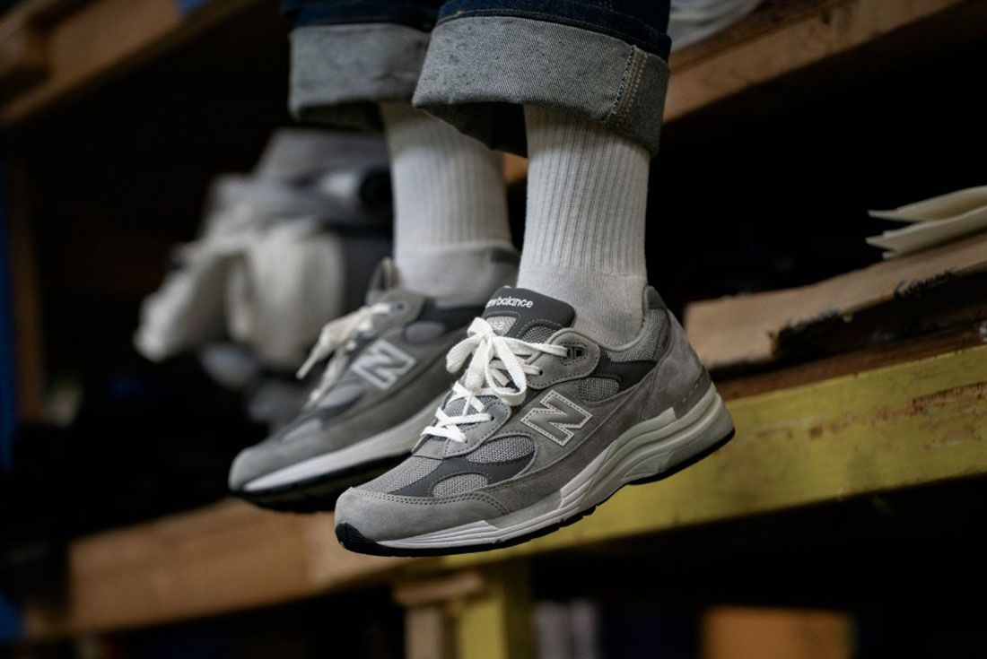New Balance 992 Grey Hype Dc On Foot