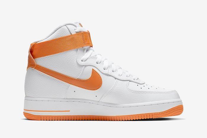 Nike Air Force 1 High White Orange Medial