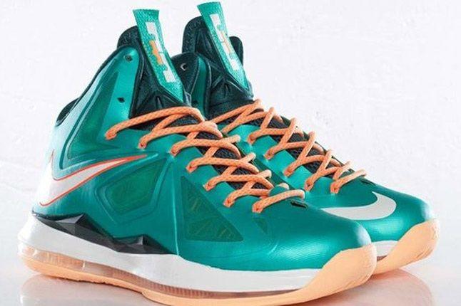Nike Lebron X Dolphins European Release Pair 1