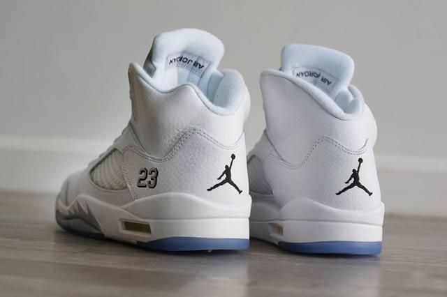 Jordan 5 White Metallic 4