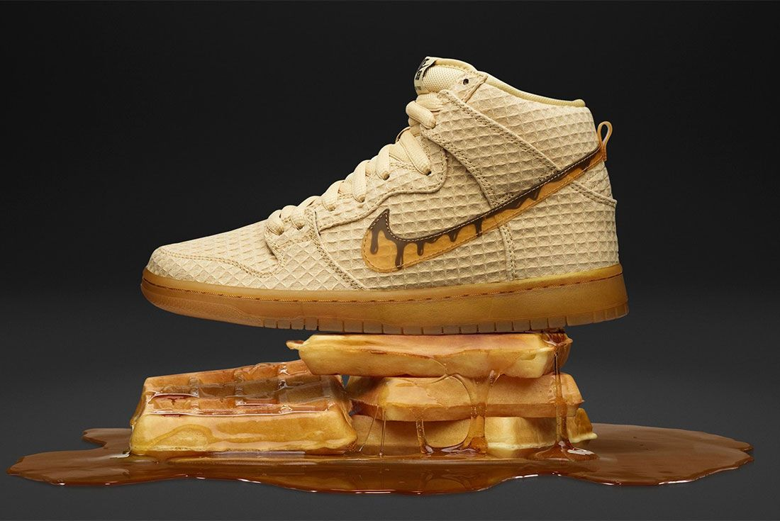 Nikes Sb Dunk High Chicken And Waffles