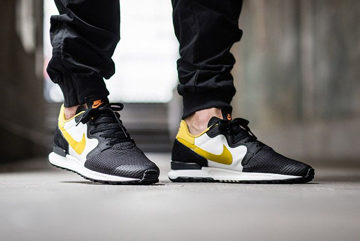 Nike Air Berwuda Black White Peat Moss On Feet 3
