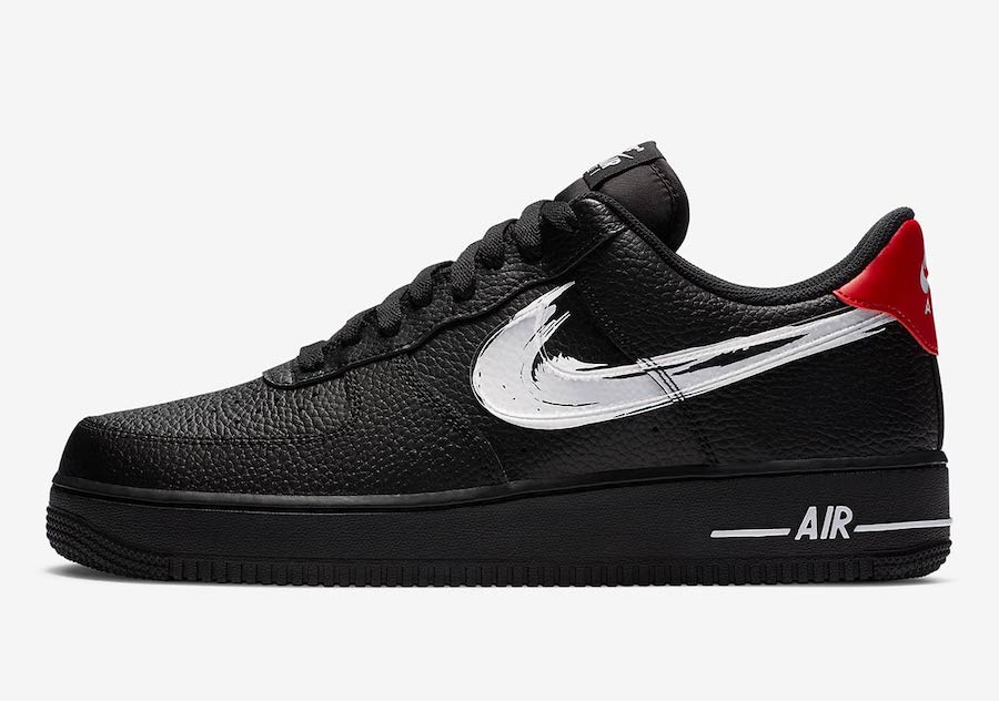 Nike-Air-Force-1-Low-Brushstroke-Swoosh-Black-