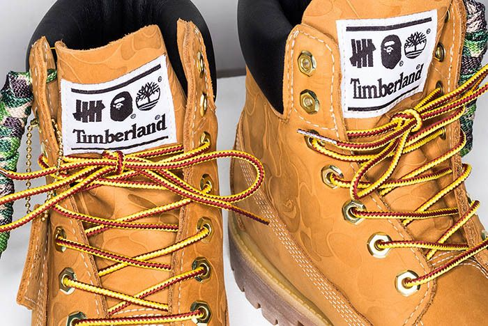 Bape Undefeated Timberland 6 Inch Boot 3