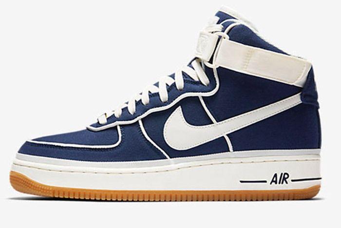 2017 Nike Air Force 1 High Blue White Gum 1