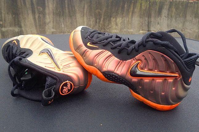 Nike Foamposite Sole Swap Custom Sunset On Top 1