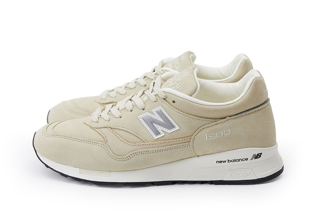 Pop New Balance 1500 Pearl White Pair Side