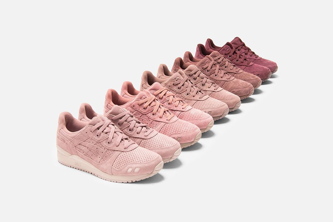 ronnie fieg kith asics gel lyte III palette group shot