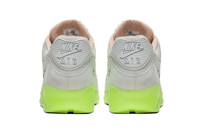 Nike Air Max 90 Snake Pure Platinum Electric Green Bio Beige Ck0902 001 Release Date Heel