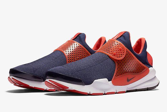 Nike Sock Dart Navy Orange 6