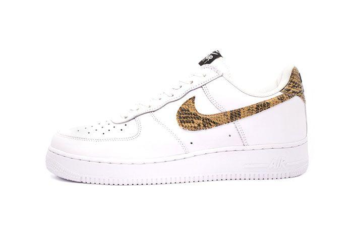 Nike Air Force 1 Low Premium Ivory Snake Medial Side Shot
