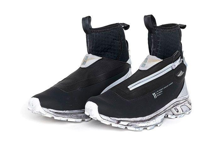 11 By Boris Bidjan Saberi X Salomon Spring Summer 2020 Footwear Black White Midsole High Three Quater Lateral Side Shot