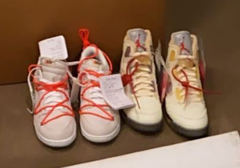 Virgil Abloh Off-White Nike Dunk Low Sample