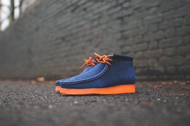 Mf Doom X Clarks Wallabee Boot Navy 1