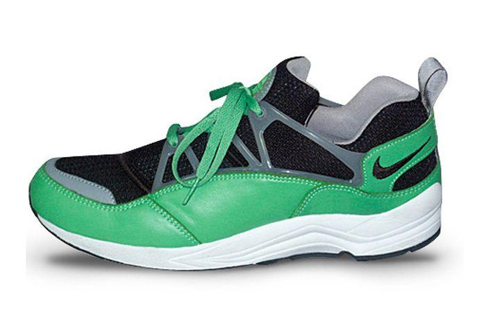 Stussy Nike Huarache Light Green Lateral Side