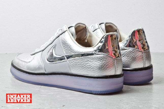 Nike Air Force 1 Downtown Silver 4 2