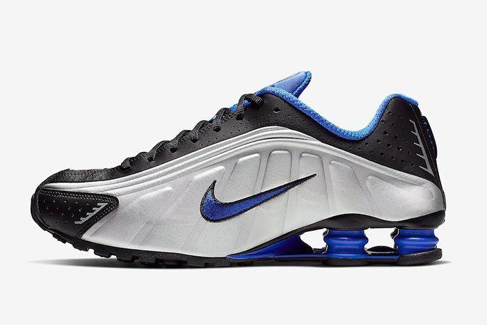 Nike Shox R4 Racer Blue Metallic Silver 104265 047 Lateral Side Shot