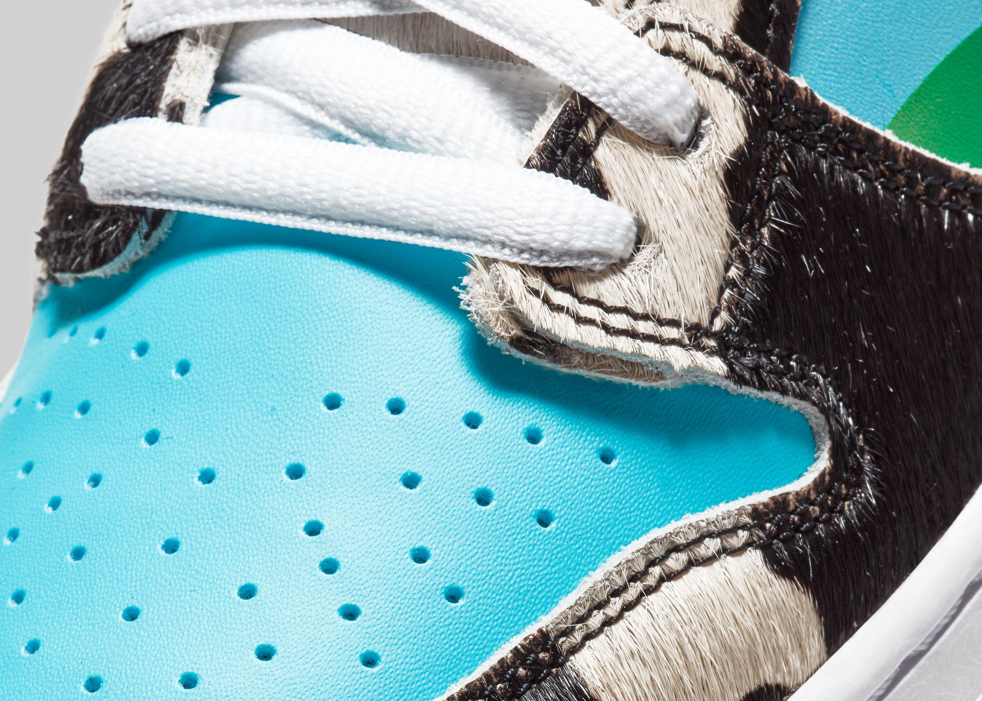 Ben & Jerry's x Nike SB Dunk Low Chunky Dunky Toe Box