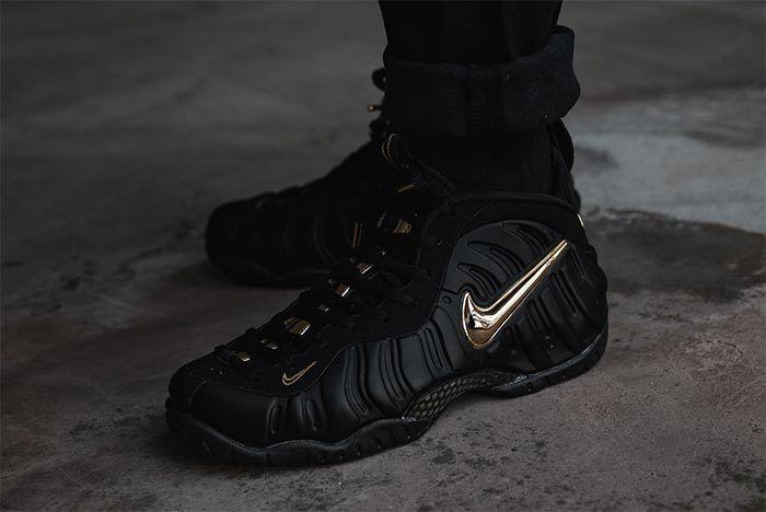 Nike Foamposite Black Gold 1