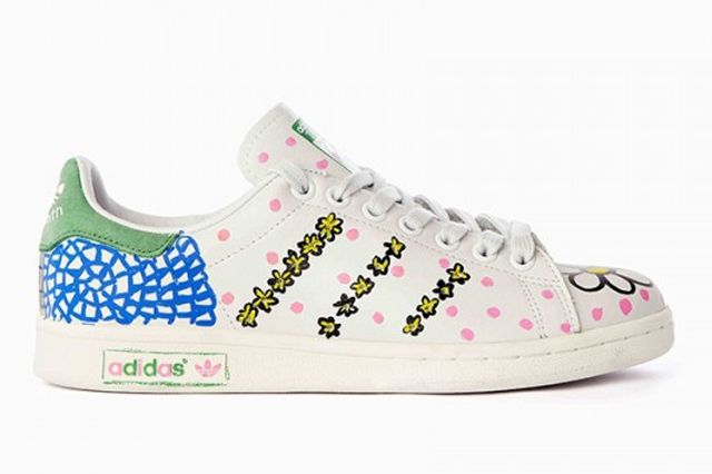 Pharrell Williams Hand Painted Adidas Originals Stan Smith 9