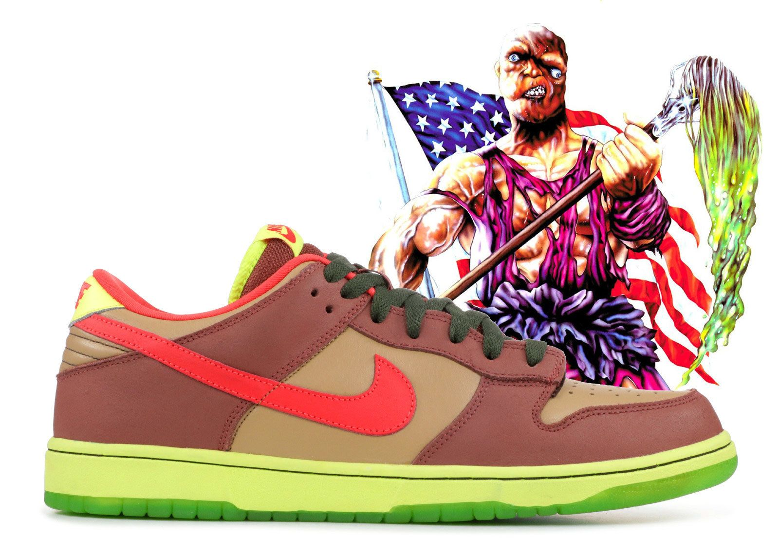 Nj Skate Shop X Nike Sb Dunk Low Toxic Avenger 2009