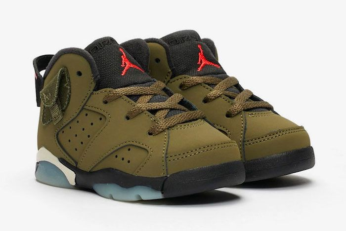 Travis Scott Air Jordan 6 Medium Olive Toe