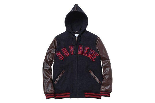 Supreme Brown Sleeve Hooded Jacket 1