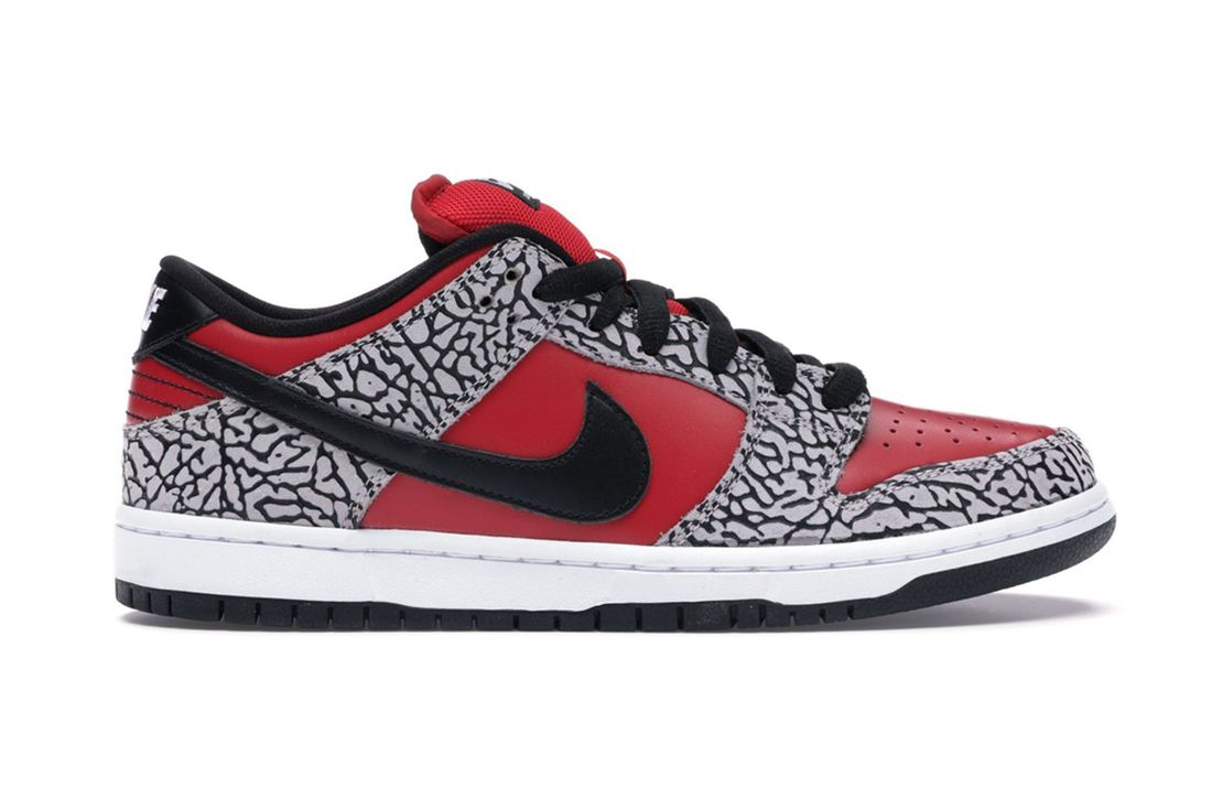 Supreme Nike Sb Dunk Low Red Cement 313170 600 Lateral
