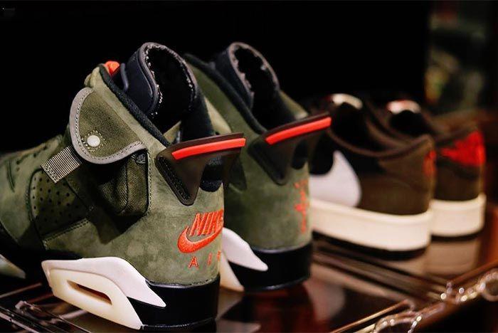 Travis Scott Air Jordan 6 Cn1084 200 2019 Close Up Heel Shot