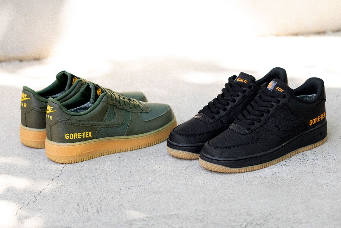 Nike Air Force 1 Gore Tex Black Drab Olive Hero Shot 7