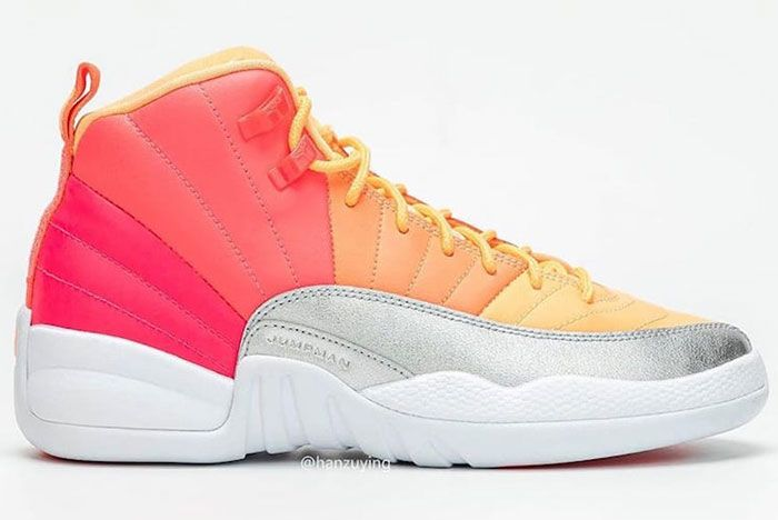 Air Jordan 12 Gs Hot Punch 510815 601 Release Date Pricing 1 Side