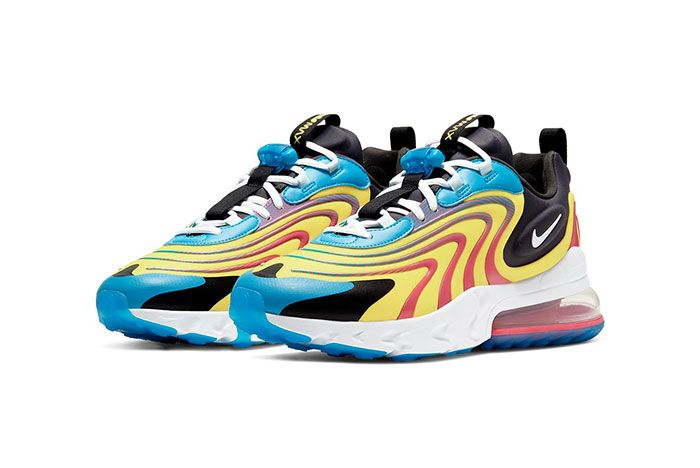 Nike Air Max 270 React Eng Laser Blue Cd0113 400 Front Angle