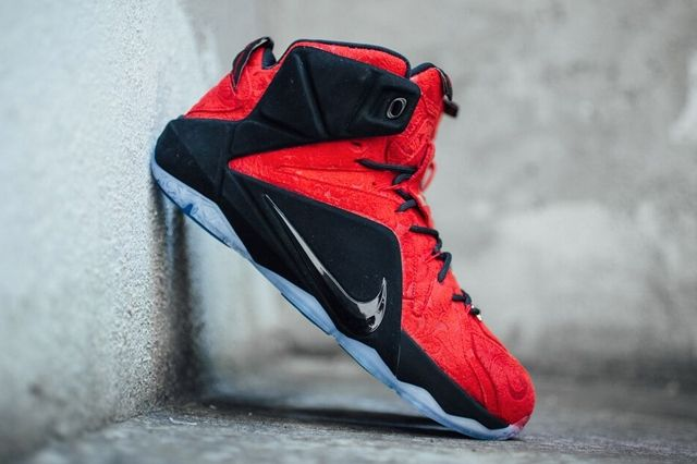 Nike Le Bron 12 Red Paisley 1