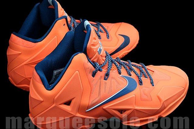 Nike Le Bron 11 Orange Navy