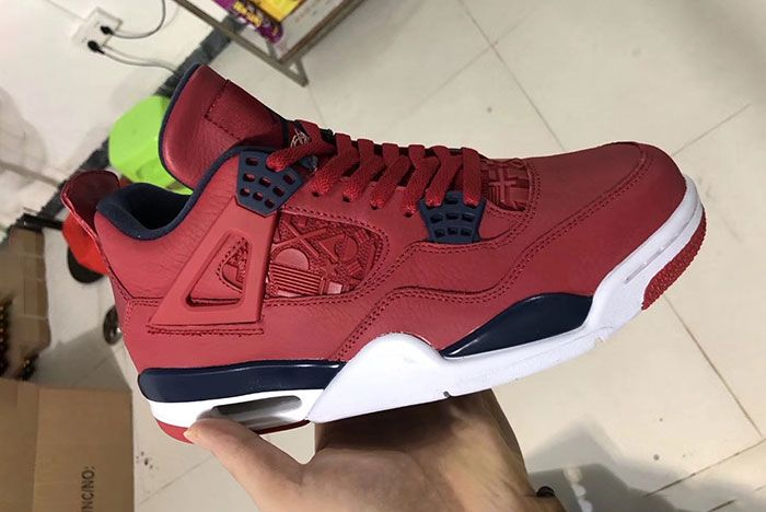 Air Jordan 4 Fiba Gym Red Obsidian Ci1184 617 Release Date In Hand