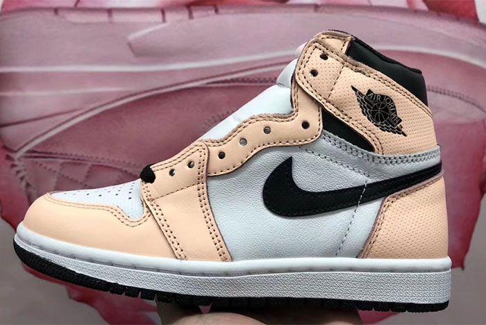 Air Jordan 1 High Og Mismatch Perforated Pink Left