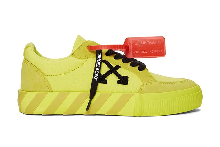 Off White Low Vulcanised Sneaker Yellow