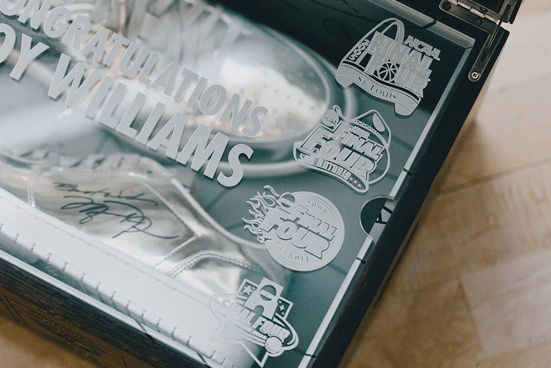 Jordan Brand Gift Unc Coach Roy Williams With A Special Pair Of Jays6