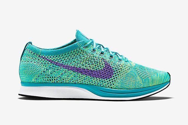 Nike Flyknit Racer Sport Turquoise Hyper Grape Volt 2